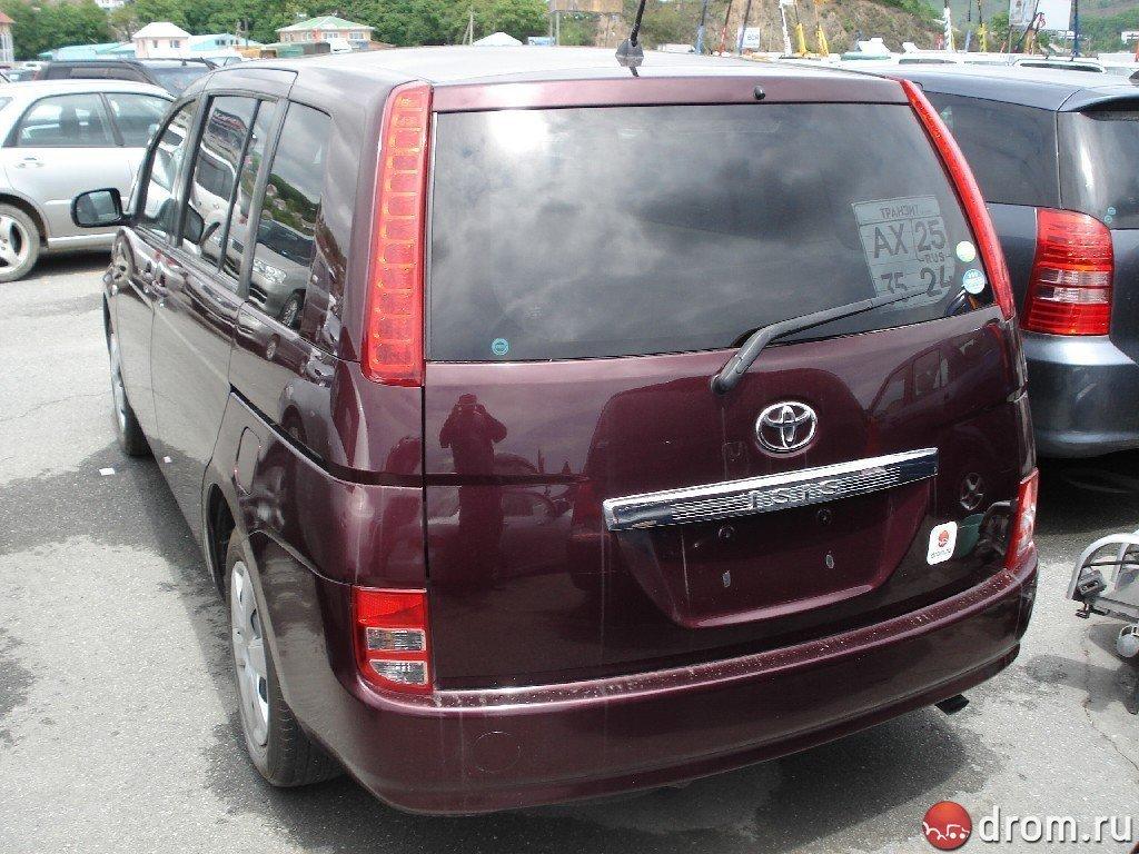 Toyota isis 09 2004 технические