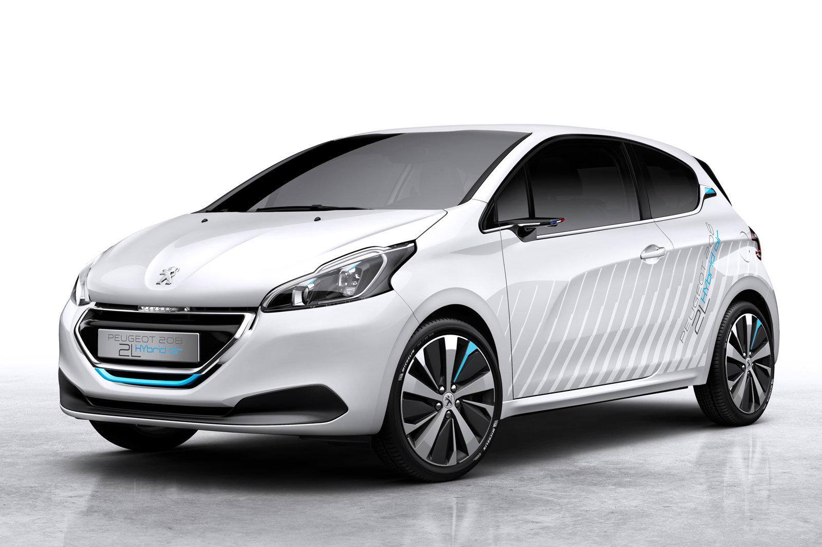 peugeot 208 hybrid air 2l парижский автосалон