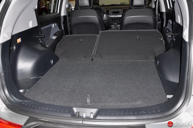 как закрыть багажник без аккумулятора киа спортейдж