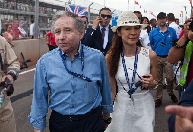 На первый этап с инспекцией приехал президент FIA Жан Тодт с супругой