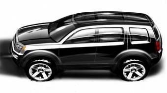На данный момент компания Honda опубликовала лишь одно изображение прототипа Honda Pilot.