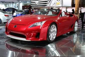 Lexus LF-A Roadster Concept на Детройтском автошоу.