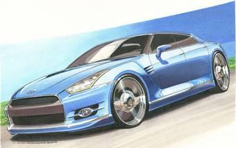 Infiniti GT-R с точки зрения дизайнеров журнала Motor Trend.