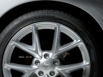 Одно из опубликованных компанией Nissan изображений нового поколения седана Maxima демонстрирует дизайн литых дисков автомобиля.