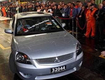 Седан Mitsubishi 380, который стал последним автомобилем, собранным на австралийском заводе компании Mitsubishi, был продан за 100 000 австралийских долларов.