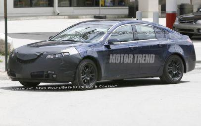 Шпионские снимки: седан Acura TL нового поколения