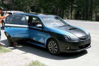 Данный экземпляр Subaru Exiga, замеченный в Калифорнии, демонстрирует образец подготовки автомобиля к проезду по федеральной трассе Чита-Хабаровск: все детали, которые могут быть повреждены на грунтовке, тщательно спрятаны под защитный слой.