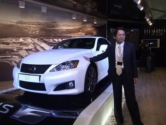 В Москве прошла презентация спорт-кара Lexus IS F.