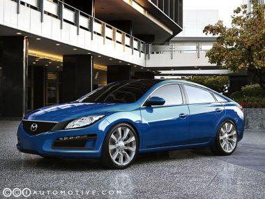 Американцы придумали дизайн полноразмерного седана Mazda9