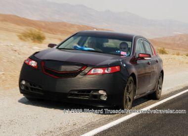 Американцы продолжают тесты новой Acura TL