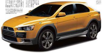 В одном из японских журналов опубликовано изображение кроссовера Mitsubishi Lancer Sportback X.