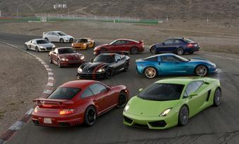 Американские журналисты устроили интересный сравнительный тест-драйв десяти самых быстрых серийных машин в мире.