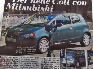 Новое поколение Mitsubishi Colt мутировало в Mitsubishi Lancer