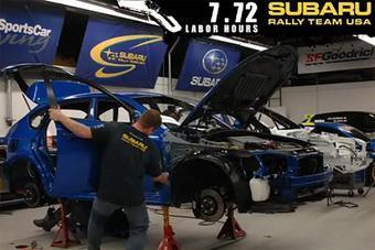 На первом этапе модификации WRX STI в раллийный автомобиль необходимо полностью демонтировать все навесные детали с кузова.