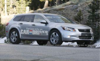 Тестовый образец американского кроссовера-универсала Honda Accord.