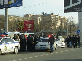 Хроника акций протеста против повышения пошлин на иномарки, проходящих в городах России 21 декабря.