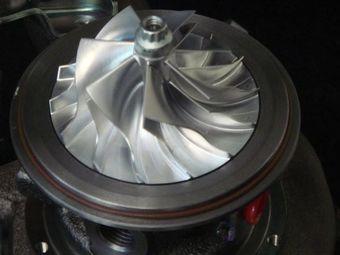 Крыльчатка компрессора турбин выполнена из алюминия.