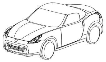 Европейское патентное бюро предлагает оценить дизайн Nissan 370Z в кузове родстер.