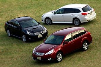 Семейство Subaru Legacy пятого поколения вышло на японский внутренний рынок.
