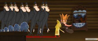 """Иллюстрация из мультипликационного фильма """"Про Федота-стрельца, удалого молодца"""" с сайта kinopoisk.ru."""