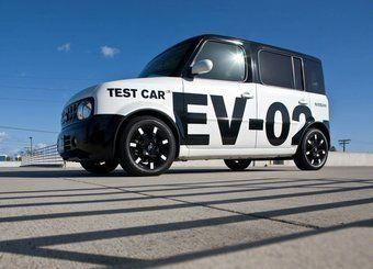 Тестовый электрокар компании Nissan.