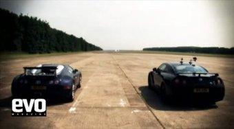 Английские журналисты сравнили Nissan GT-R и Bugatti Veyron.