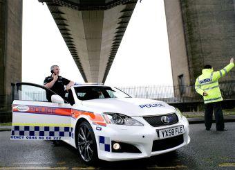 Патрульный автомобиль Lexus IS F будет преследовать преступников на дорогах Англии.