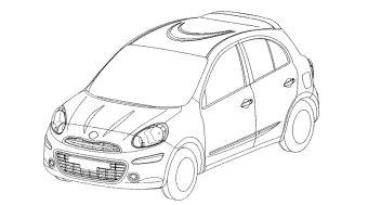 Дизайн Nissan Micra нового поколения зарегистрирован в европейском патентном бюро.