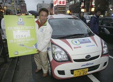 Японцы установили новый рекорд для электромобилей: 555 километров без подзарядки