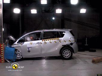 Toyota Verso получила 5 звезд по итогам краш-теста от Euro NCAP.