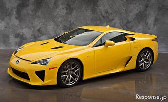 В декабре Lexus начнет выпуск супер-каров LFA с новым цветом кузова.