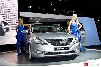 Hyundai Sonata на выставке в Москве.