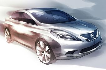Скетч Nissan Versa нового поколение