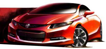 Тизер Honda Civic нового поколения.