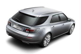 Saab 9-5 SportWagon. Пока что единственное фото машины