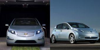 Chevy Volt пока продается лучше, чем Nissan Leaf.