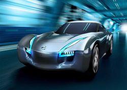 Nissan показал изображения нового концептуального электроспорткара.