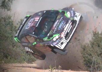 Кен Блок разбил свой раллийный болид Ford Fiesta RS WRC на шейкдауне Ралли Португалии.