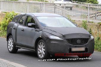 Тестовый образец новой модели Mazda CX-5 проходит испытания на европейских дорогах общего пользования.