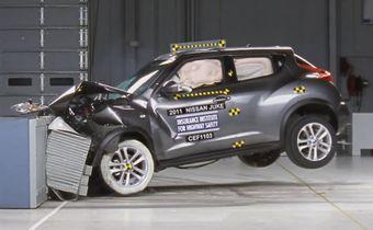 Компактный кроссовер Nissan Juke с честью выдержал 4 краш-теста в США и получил высшую оценку за безопасность.