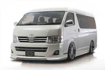 Японское тюнинг-ателье предлагает новый вариант дизайна для микроавтобуса Hiace.