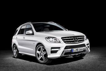 Mercedes-Benz M-Class третьего поколения. Официальная премьера модели пройдет только осенью.