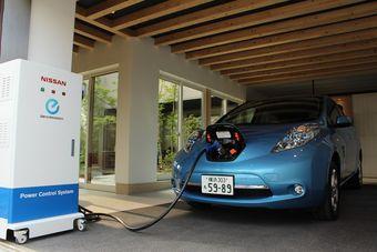 Nissan Leaf при установке Power Control System становится источником электроэнергии. С его помощью можно запитать целый дом на пару дней.
