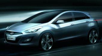 Компания Hyundai распространила иллюстрацию с изображением кузова нового поколения хэтчбека i30.