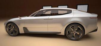 Четырехдверный спортивный седан марки Kia будет представлен на выставке во Франкфурте.