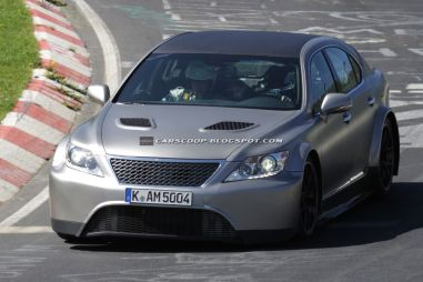 Прототип спорт-версии LexusLS замечен наНюрбургринге