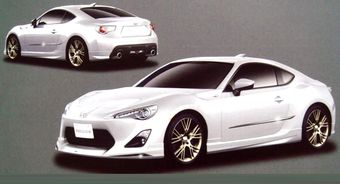 В Интернет попали изображения серийной модификации спортивного купе Toyota FT-86 в заводском тюнинге Modellista.