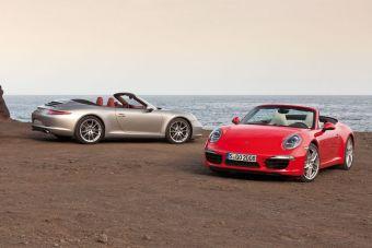 Porsche 911 Carrera нового поколения представлен в кузове кабриолет.