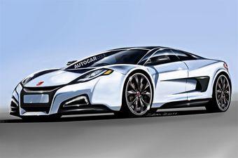 Журнальный дизайнерский эскиз прототипа Honda NSX. К реальности, наверняка, никакого отношения не имеющий.