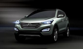 Дизайнерский эскиз Hyundai Santa Fe третьего поколения.
